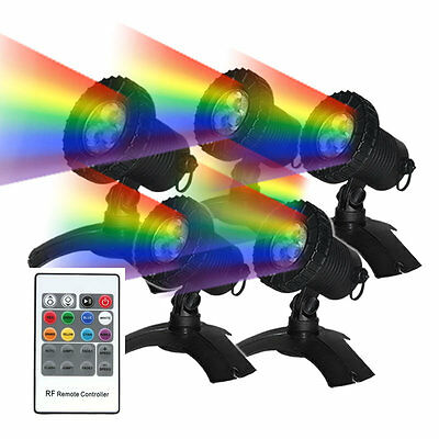 5 x Submersible LED Multi Colour Pond lighting kit with Remote - suits Garden
