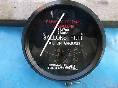 replica ww2 raf spitfire fuel gauge 37 gallon