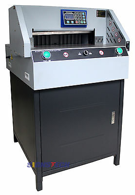 "Upgraded! New 490mm 19.3"" Programmable Paper Guillotine Cutter Cutting Machine"