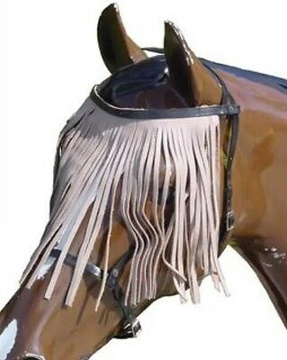 Horse Leather Fly Veil Headstall ****NEW**** Various Colours (All Sizes)  ***NEW