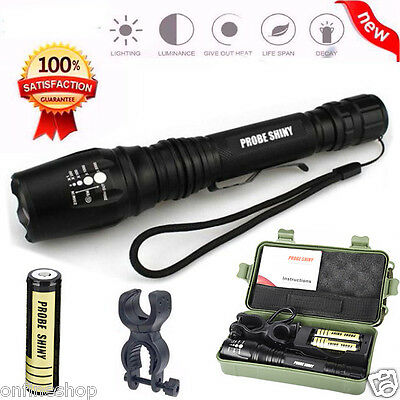 8000LM LED Flashlight X800 G700 Shadowhawk CREE T6 Tactical 18650 Torch Battery