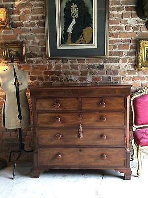 Fabulous Antique Chest of Drawers Dresser Victorian Mahogany 19th Century