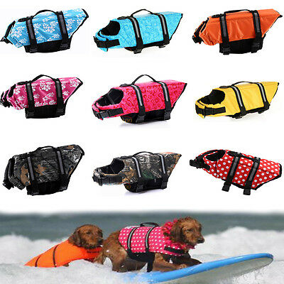 Pet Dog Life Jacket Saver Floating Preserver Reflective Mesh Safety Vest Outfit