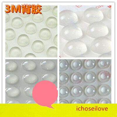 10-50x 3M Spherical/Flat Self-Adhesive Rubber Furniture Bumpers