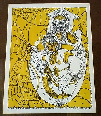Psychedelic poster Grateful Dead & the Doors SALZER Santa Barbara 1967