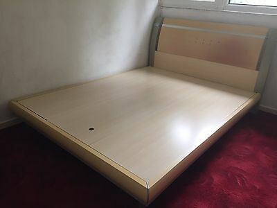 King Size Bed and Bedside Table