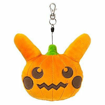 Pokemon Center Original stuffed Pass Case pumpkin Pikachu
