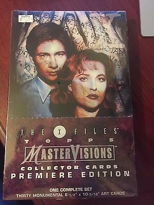 X Files - Topps MasterVisions Collector Cards Premiere Edition Complete Set NEW