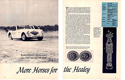 1956 More Horses For The Austin Healey  ~  Original 6-Page Article / Ad