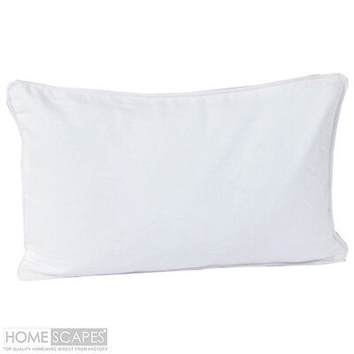 "19"" x 25"" Home Decor SILKY cotton White Pillow Case / COVER 2 in 1 Set"