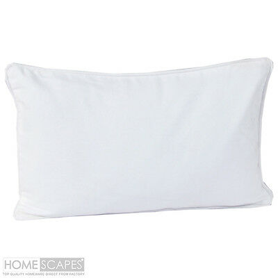 "20"" x 40"" Home Decor SILKY cotton White Pillow Case / COVER 2 in 1 Set"