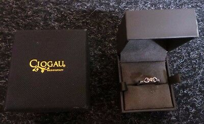 Clogau Silver and Rose Gold Ring **SIZE J**