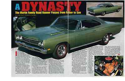 1969 Plymouth Road Runner 383  ~  Nice 2-Page Muscle Car Article / Ad