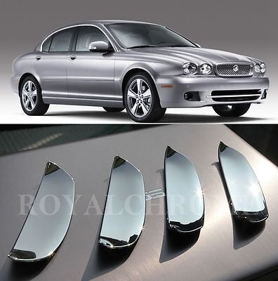 4x ROYAL PREMIUM CHROMEE Porte Door Handle Scoops Cups for JAGUAR X TYPE 01-09