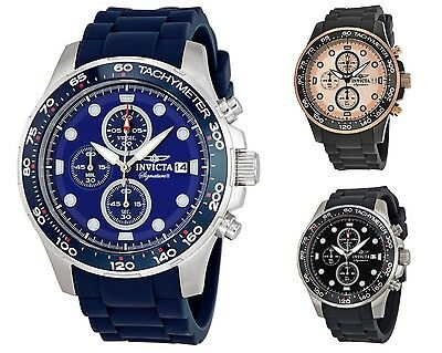 Invicta Signature II Chronograph Rubber Strap Mens Watch 7371 / 7372 / 7374