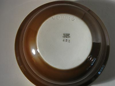 """COORS POTTERY GLENCOE THERMO PORCELAIN 5"""" BOWL #431 Brown"""