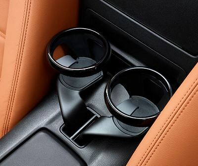 Pair of Fiat 124 Spider Cup Holders in Piano Black New & Genuine 71870617
