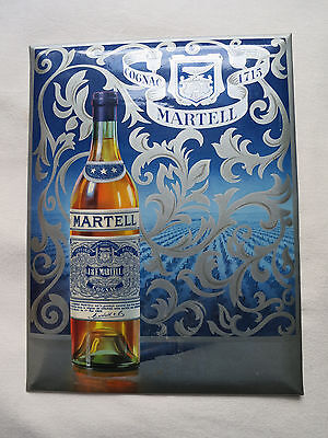MARTELL COGNAC Advertising Sign - Vintage French 1950s - Enamel Sign