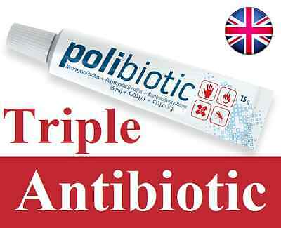 NEW Big 15g Triple Antibiotic Ointment Cream vs NEOSPORIN Acne Wounds 2 days UK