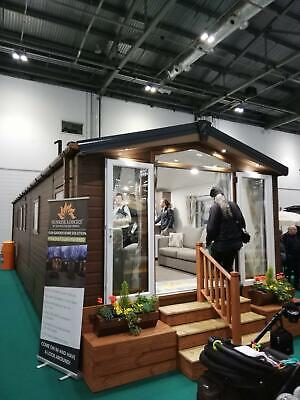 NEW Sunrise Lodge   Barn Spec   38x12 with 2 beds   OFF SITE Static