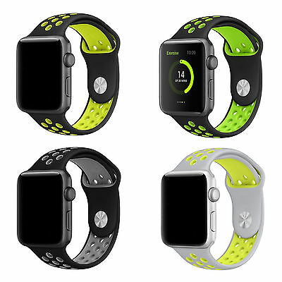Bracelet Apple Watch Style Nike Sport Serie 1/2 Remplacement Silicone Strap Band