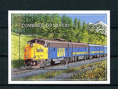 Angola 1997 MNH Trains World 1v SS II Railways Züge Chemin de Fer Stamps