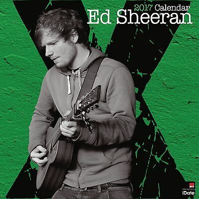 Ed Sheeran Calendar 2017 with free pull out poster