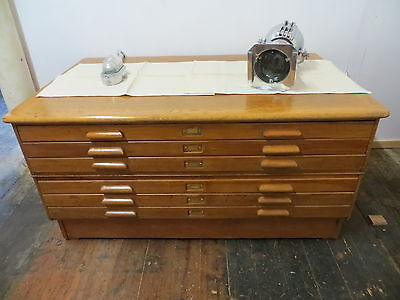 Beautiful Architects Plan/map/artist Cabinet With 6 Drawers - Seller Refubished