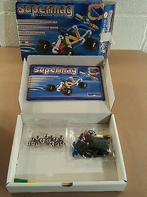 Vintage set,Supermag 43 piece magnetic Construction Set Sealed New (sc4)