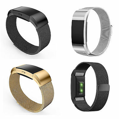 Bracelet Milanais Remplacement Fitbit Charge 2 Magnetique Milanese Loop Band