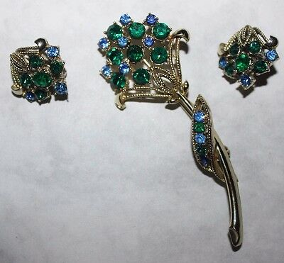 CORO signed PIN AND EARRING SET RARE AND EXC.!!!!!!!!!!!!!!!!