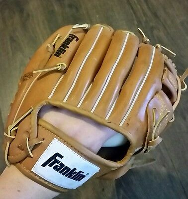 "Franklin - Leather Laced 4629 - 11"" Left Hand - Baseball Glove / Mitt deer touch"