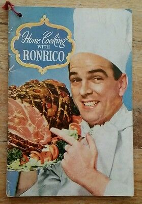 Vintage Home Cooking With Ronrico Pamphlet 32 Pages Great Used Condition