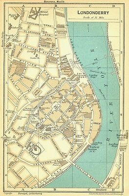 IRELAND. Londonderry 1932 old vintage map plan chart