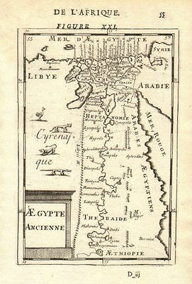 ANCIENT EGYPT. Nile valley. Shows towns. 'Aegypte Ancienne'. MALLET 1683 map