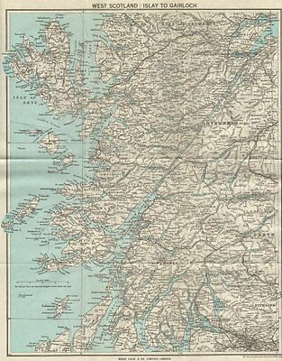SCOTLAND. Islay, Gairloch, Perth, Skye, Inverness 1964 old vintage map chart