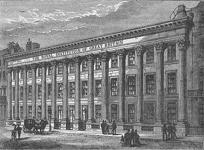 PICCADILLY. The Royal Institution. London c1880 old antique print picture