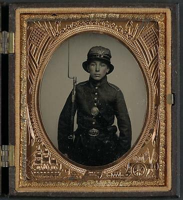 American Civil War,Unidentified Young Soldier,5th New Hampshire Infantry,Musket