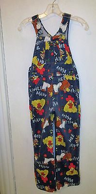 Vintage Liberty Hee Haw Denim Overalls Youth Size 12