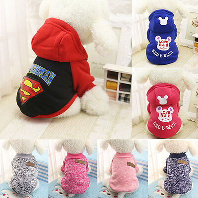 Fashion Warm Hoodie Coat Pet Dog Puppy Cotton Clothes Apparel Winter New