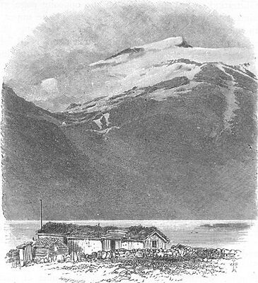NORWAY. Eidsbugarden. SMALL 1890 old antique vintage print picture