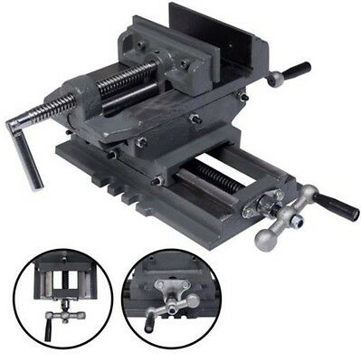 "New 5"" Cross Drill Press Vise X-Y Clamp Machine Slide Metal Milling 2 Way HD +"