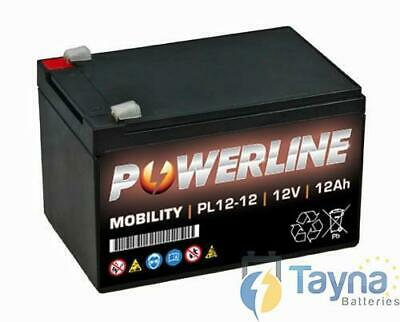 Powerline 12V 12Ah Sealed Lead Acid AGM scootmobiel Battery ES12 12