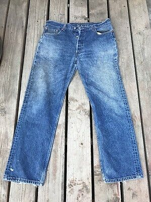 Vintage Levi's 501 Denim Jeans Made In U.S.A. W38 L32