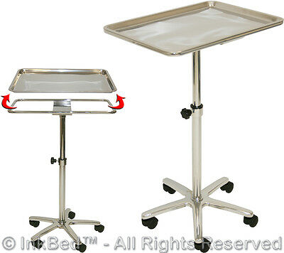 New InkBed Tattoo Mayo Style Stainless Steel Tray Ink Bed Studio Salon Equipment