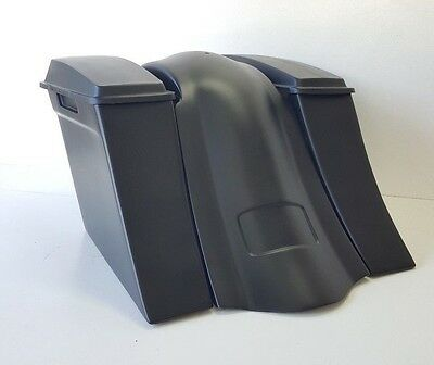 """97-2008 Harley Stretched Saddlebags overlay Fender Stock Lids Touring Flh 6"""""""