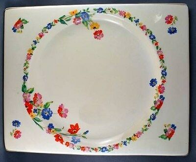 Vintage Royal Staffordshire The Biarritz Rectangular Plate Floral