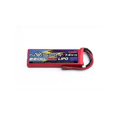 NVO1803 NVISION BATTERIA LIPO 7,4V 2200mAh 2S 30C 3C-CHARGE DEANS
