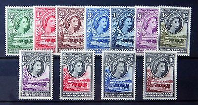 BECHUANALAND 1955 Complete to 10/- SG143-153 U/M FP8305