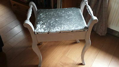 Gorgeous Shabby Chic Luxury Piano Stool Or Dressing Table Stool